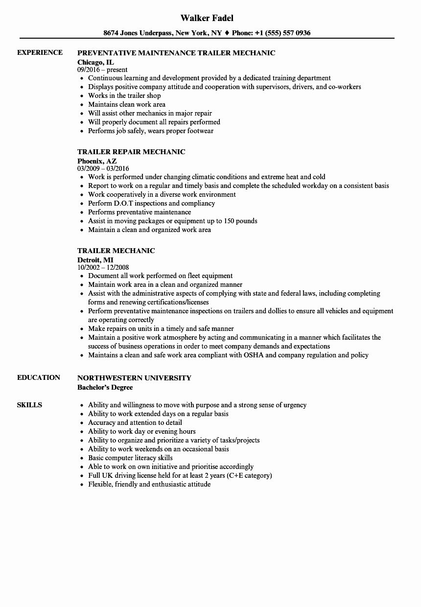 23 Mechanic Job Description Resume in 2020 Mechanic jobs