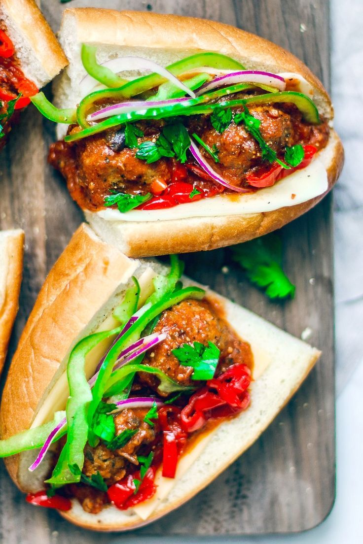 Loaded Summer Meatball Sub (with Grass-Fed Beef) Loaded Summer Meatball Sub {with Grass-Fed Beef}