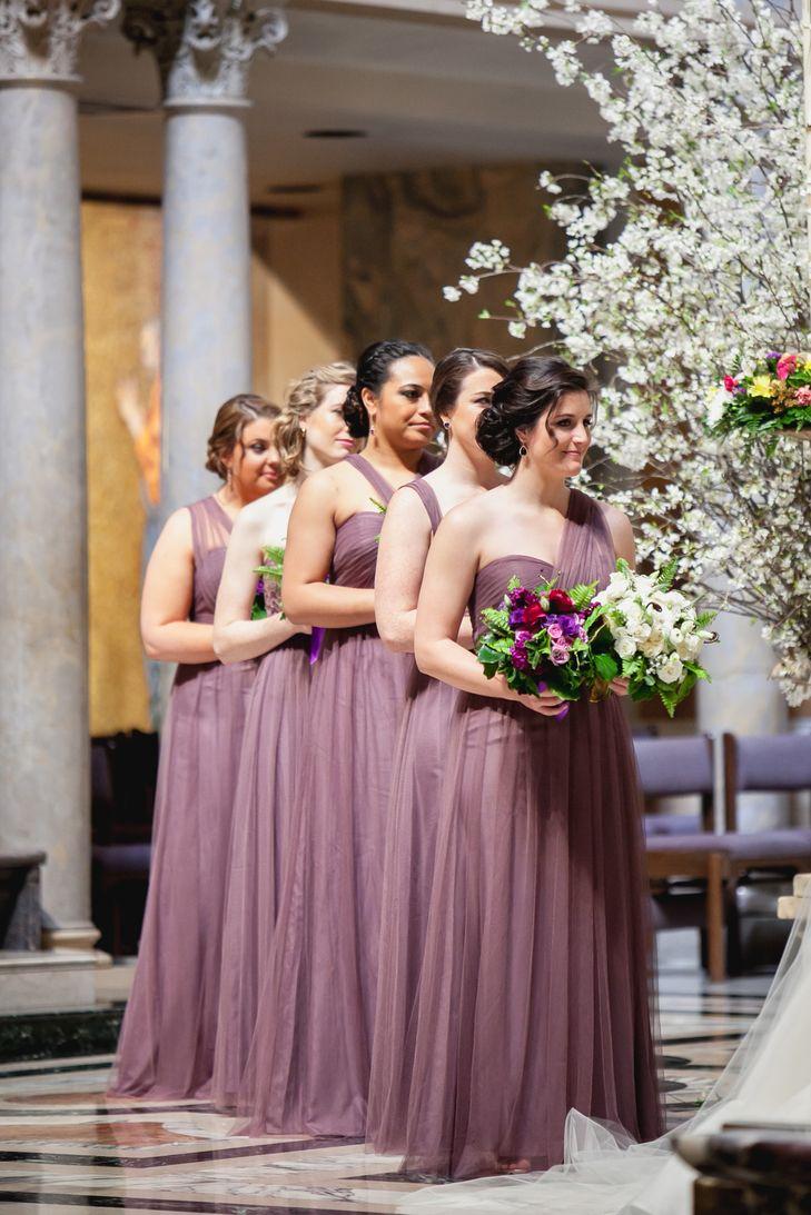 Floor Length Soft Purple Bridesmaid Dresses Photo K Thompson Photography Llc Purple Bridesmaid Dresses Bridesmaid Dresses Dresses [ 1093 x 729 Pixel ]