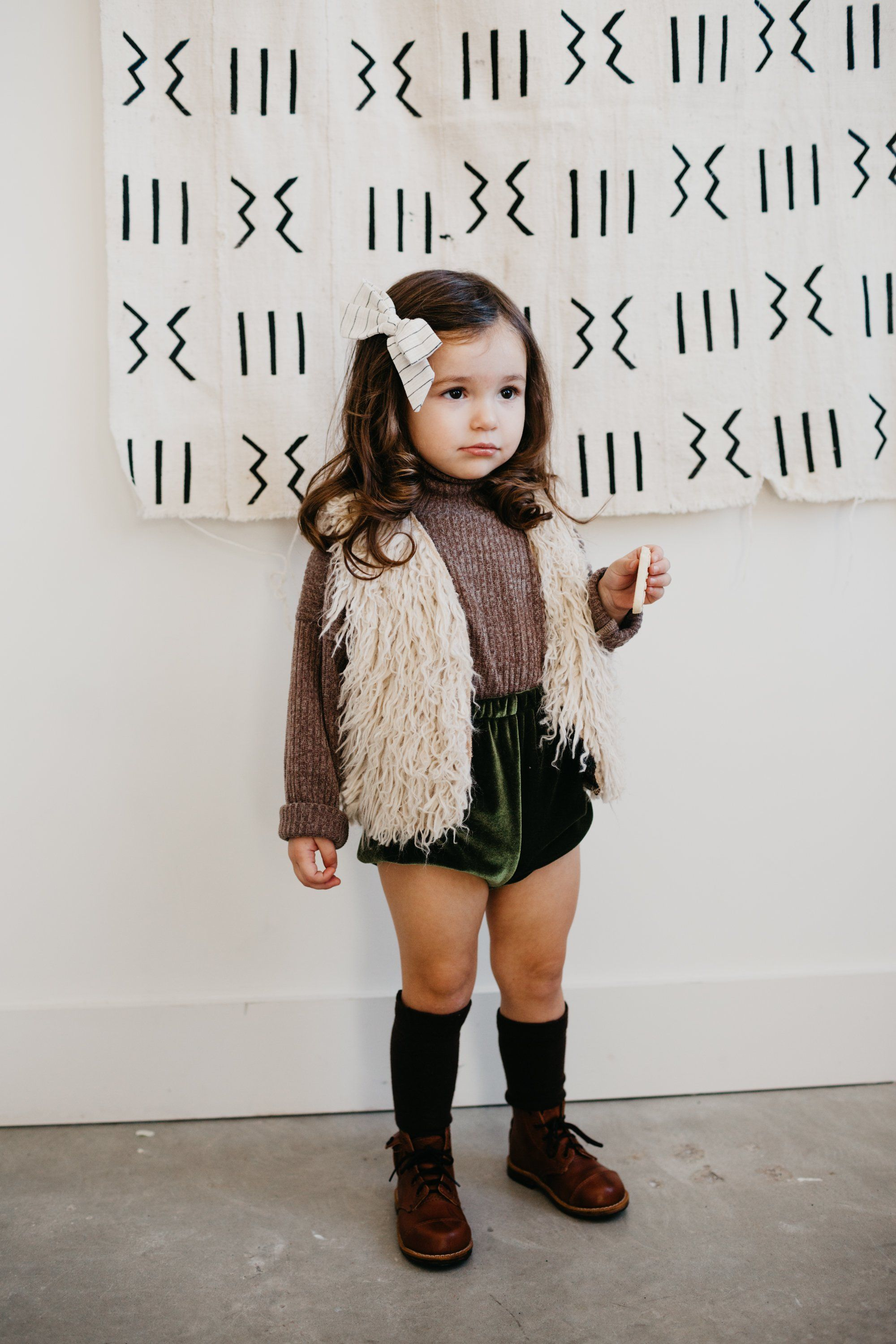 the Velvet Bloomers in Green Kids fashion