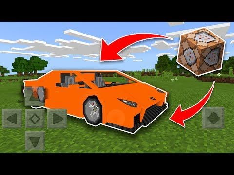 WORKING CAR Using COMMAND BLOCKS in Minecraft Pocket Edition