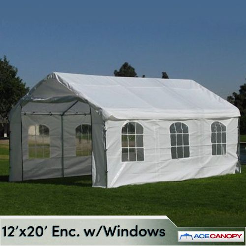Enclosed Canopy 12x20 With Windows In 2020 Canopy Tent Outdoor Canopy Outdoor Heavy Duty Gazebo