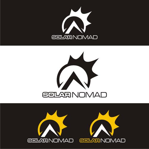 Solar Nomad Design An Innovative Simple Logo For Solar Company