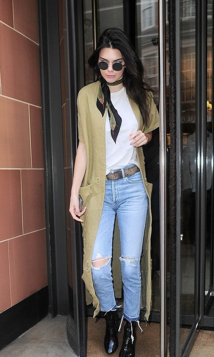 29174988380 Her jeans are the Liya High Rise Classic Fit with Shadow Pocket in Torn.  The back pockets of these jeans are - what the brand calls -