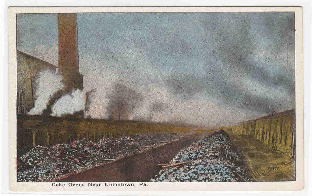 Coke ovens uniontown pennsylvania 1920c postcard