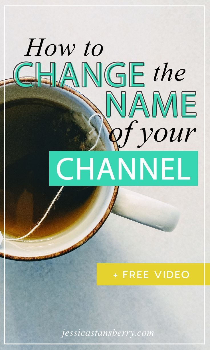 Changing the name of your YouTube channel is crazy easy