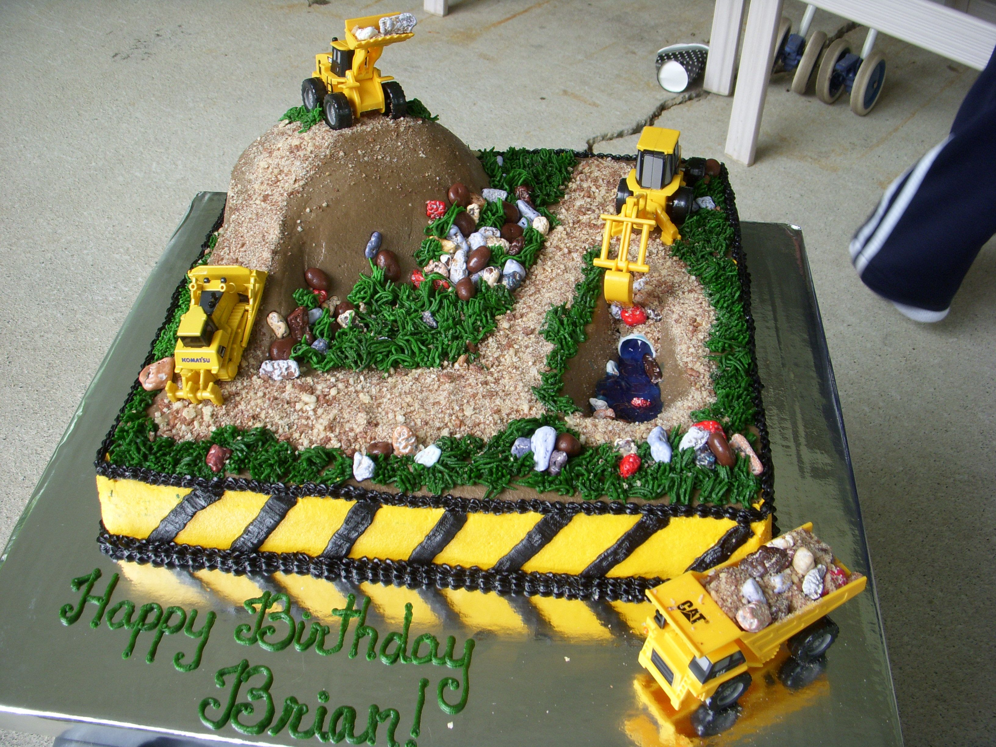 Construction Site Cake For My Son