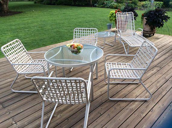 Vintage Mid Century Brown Jordan Lito Collection Outdoor Patio Etsy Brown Jordan Patio Furniture Outdoor Patio Patio Furniture
