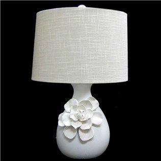 23 White Ceramic Lamp With Flower On Base White Ceramic Lamps Ceramic Lamp Lamp