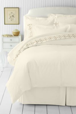 Beau No Iron Solid Supima Sheet Set, Duvet Cover And Shams