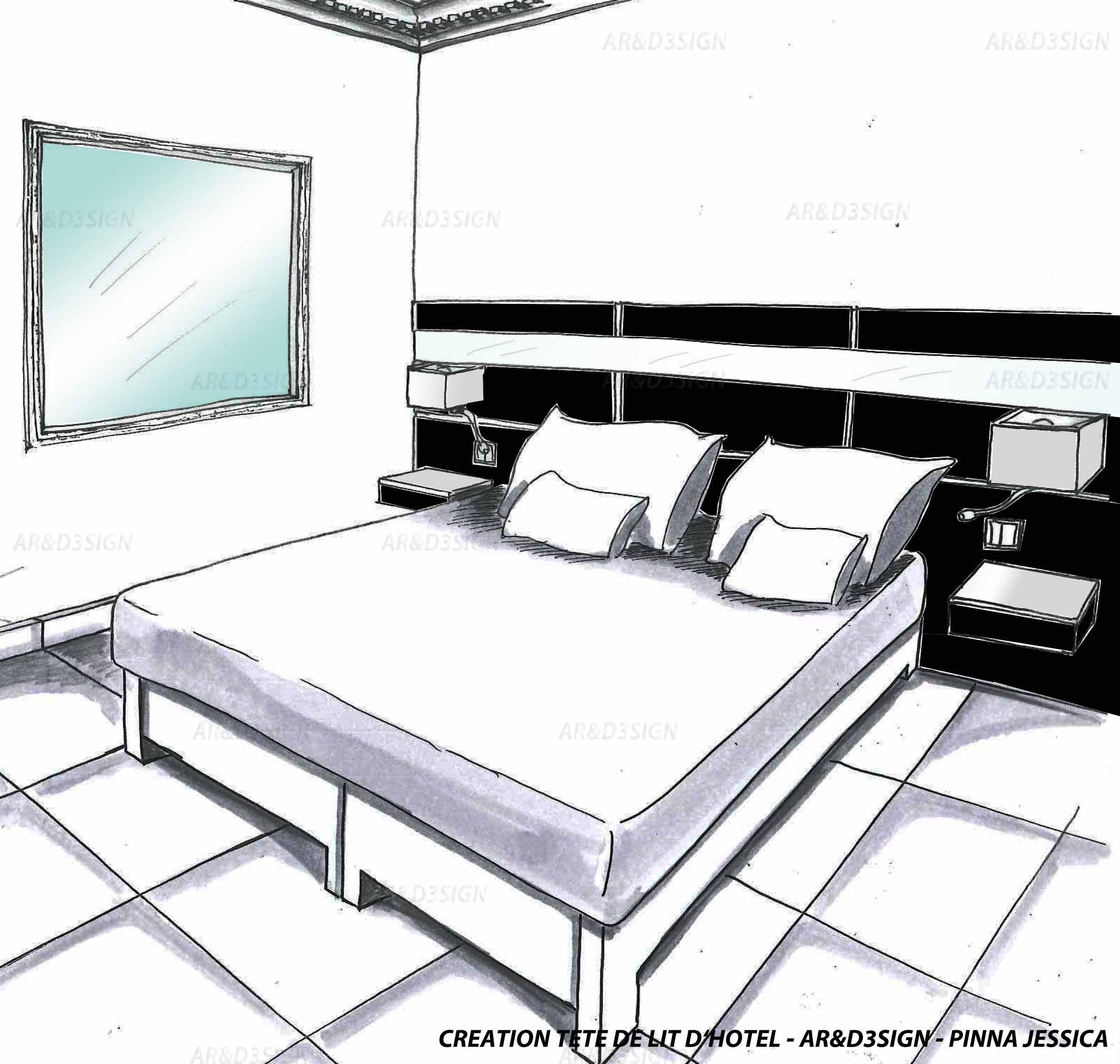 Jessica pinna ard3sign chambre d h´tel noir et blanc hotel