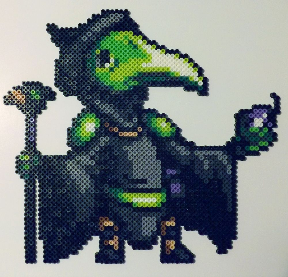 Plague Knight Perler Bead by kamikazekeeg on DeviantArt