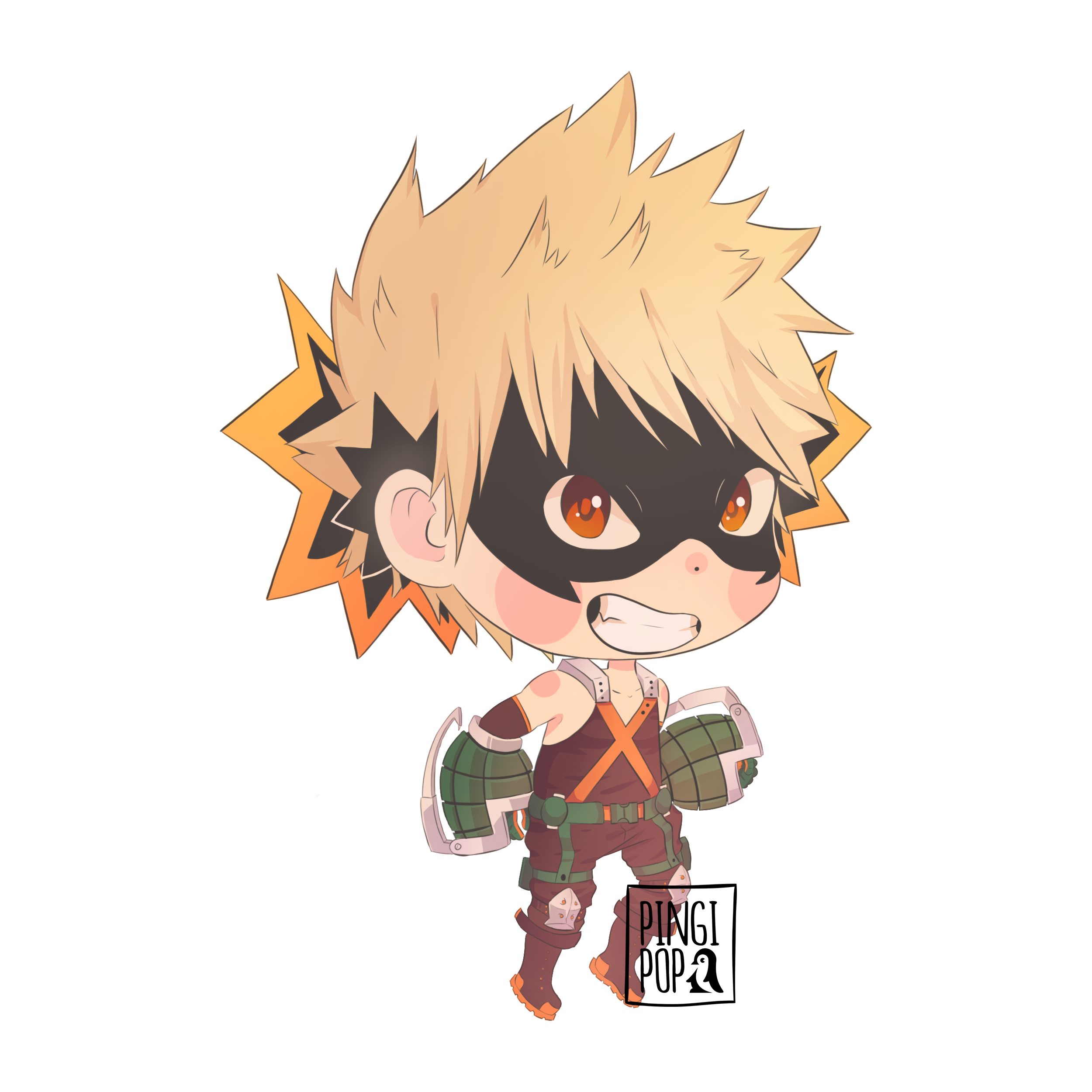 Boku No Hero Academia Bakugou Chibi Chibi Art Drawing S