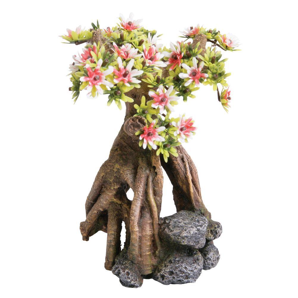 Top Fin Asian Cherry Blossom Tree Aquarium Ornament Aquarium Ornaments Cherry Blossom Tree Aquarium Decorations