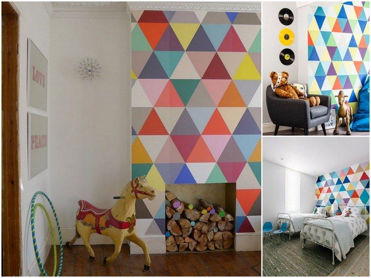 Bunte Dreiecke An Der Wand Im Kinderzimmer | Do It Yourself