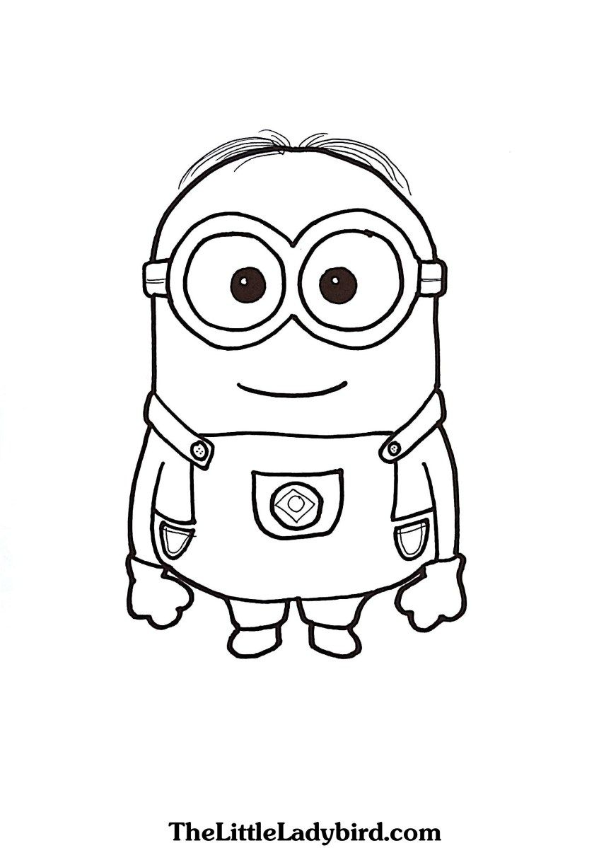 Coloring Pages Minions Free Dave The Minion Coloring Page
