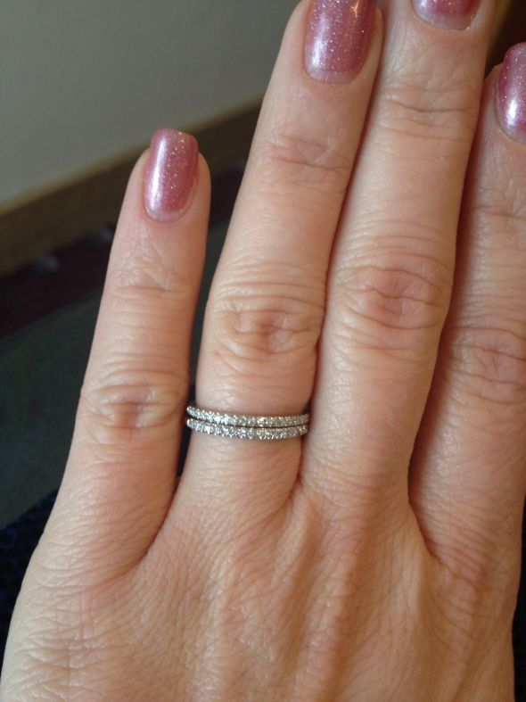 Dual Wedding Bands Ideas Pinterest Round Diamonds Weddings And Diamond