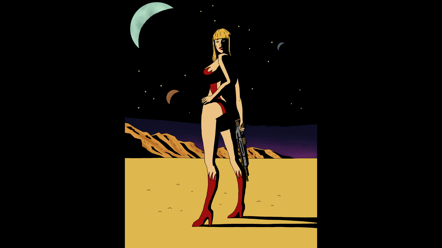 Sleazy, 70's science-fiction roleplaying game by Venger Satanis, Alpha  Blue, has taken lots of inspiration from sci-fi porn parodies.