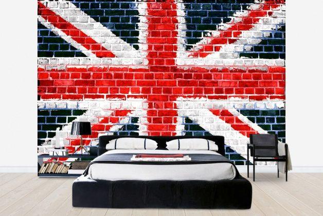 photo wallpaper  http://www.photowall.co.uk/photo-wallpaper/union-jack-brick-wall