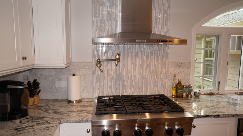 This Warwick, RI kitchen features Diamond cabinets in a ...
