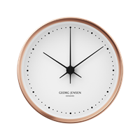 Koppel 10 Cm Wall Clock Copper With White Dial Copper Home Accessories Wall Clock Modern Best Wall Clocks