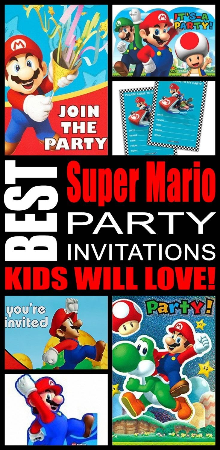 Best super mario party invitations kids will love super mario best super mario party invitations kids will love monicamarmolfo Gallery