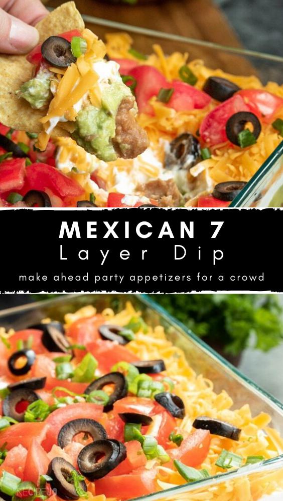 Mexican 7 Layer Dip #7layerdip