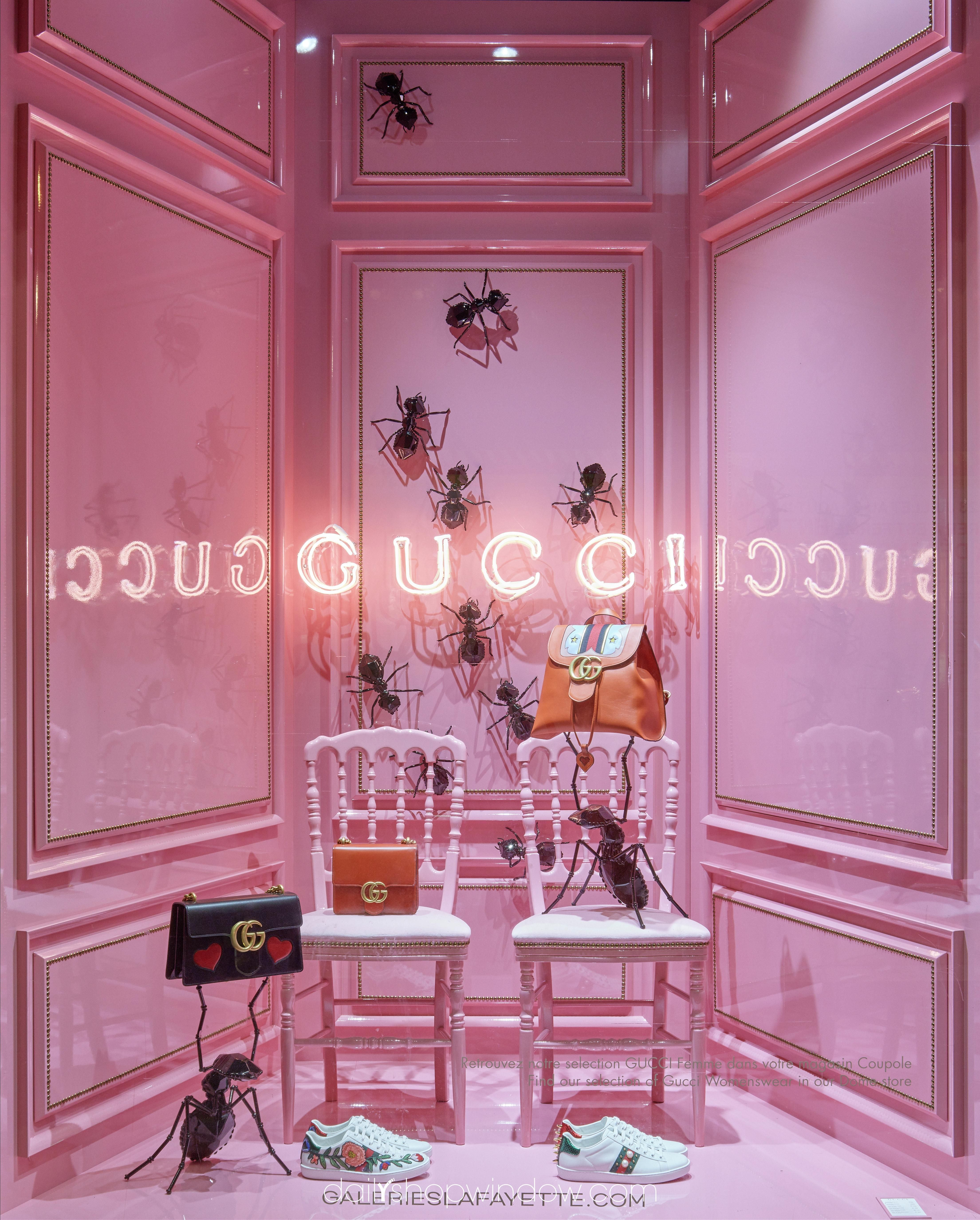 d8a396cb4 Reflexion and Ants at Les Galeries Lafayette by Gucci, August 2016, Paris