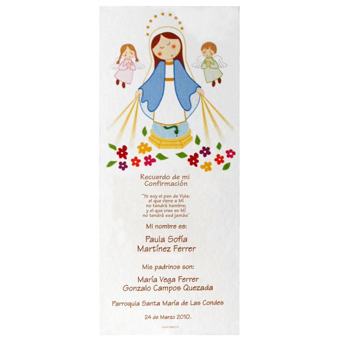 Recuerdos confirmacion catolica para imprimir gratis