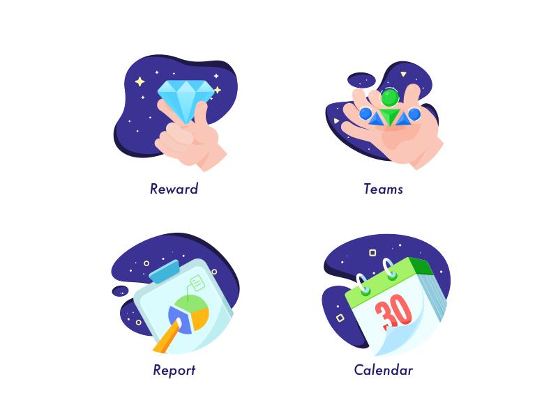 4 Icons Flat Design Icons Icon Icon Design