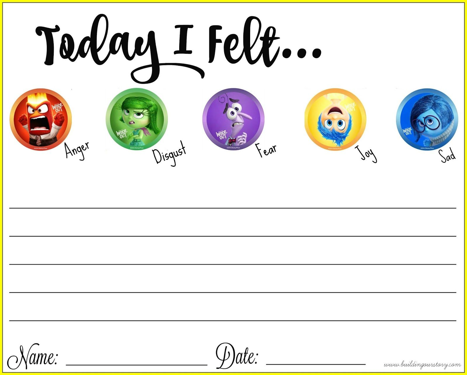 worksheet Emotions Worksheet thinking about our emotions with inside out free printable explore toys worksheets for kids and more