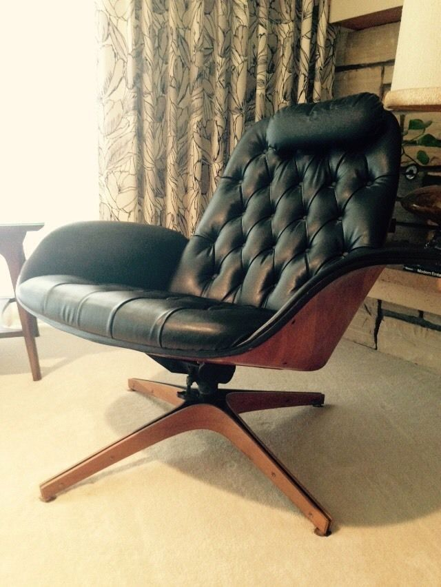 b6da2c46383f Plycraft George Mulhauser Eames Style Lounge Chair   Ottoman ...