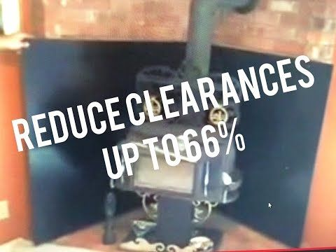 Wall Heat Shield Wood Burning Stove Reduces Clearances Combustibles Legally  - YouTube - Wall Heat Shield Wood Burning Stove Reduces Clearances