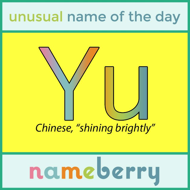 40++ Names with yu information