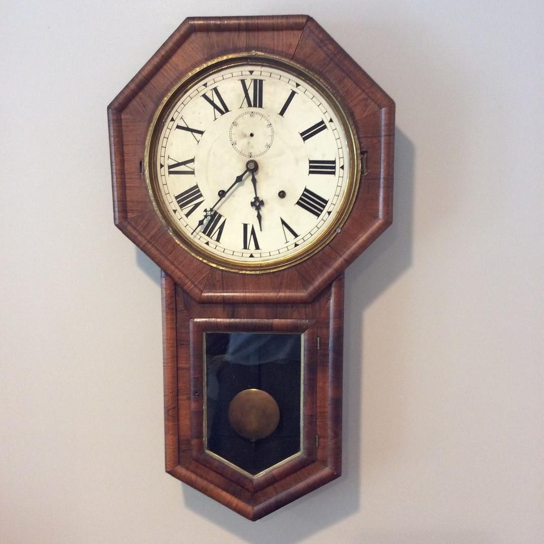 For auction is an antique en welch verdi model 8 day wall clock welch verdi model wall clock for restoration nice original movement with gong strike on hour bell strike on hour amipublicfo Choice Image