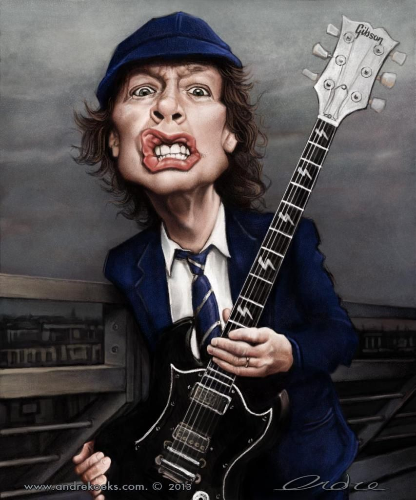 Angus Young | Angus Young by Andre Koekemoer - Digital Artist