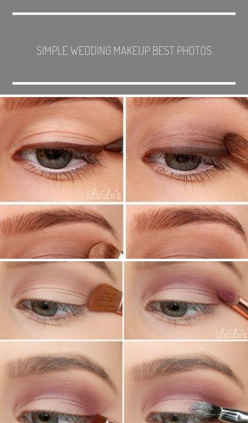 simple wedding makeup best photos - wedding makeup  - cuteweddingideas.com #make up looks for brown eyes ideas eyeshadows simple wedding makeup best photos #browneyeshadow