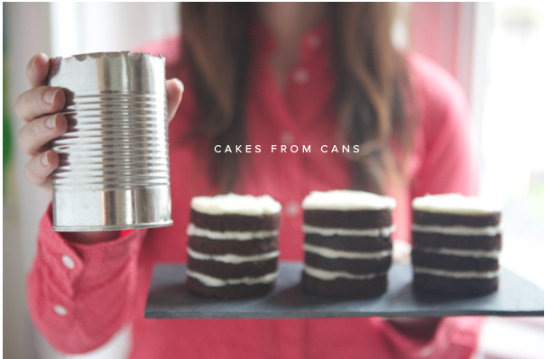 Cakes from cans.