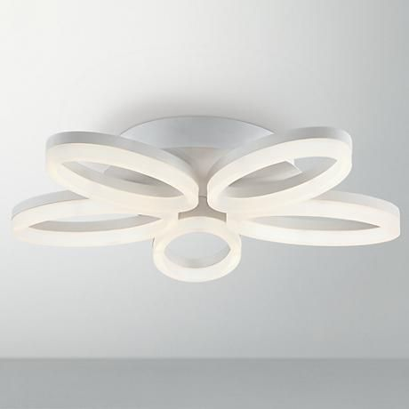 Forming a floral shape this flush mount modern led ceiling light from possini euro design