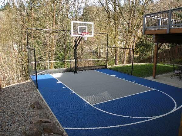 Backyard Basketball Court   Backyard basketball, Outdoor ...