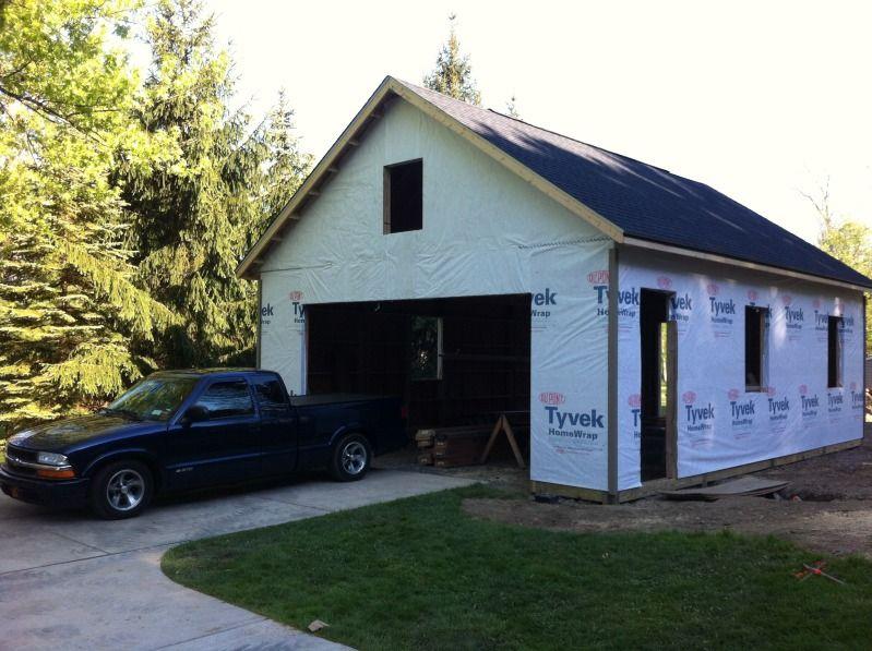 My 24 X 32 2 Car Garage Build Car Garage Building Garage