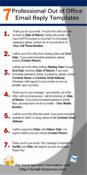 Phone Number Template Here Are 7 Professional Out Of Office Email Reply Templates That You .