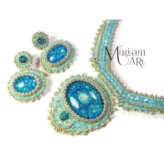 Bridal jewelry set  wedding jewelry  wedding by MiriamartLolissa