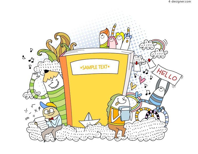 Creativebookillustratorvectormaterial60717.jpg (800×620)