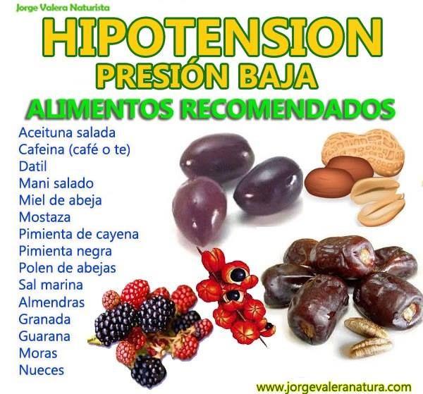 alimentos prohibidos para la presion baja
