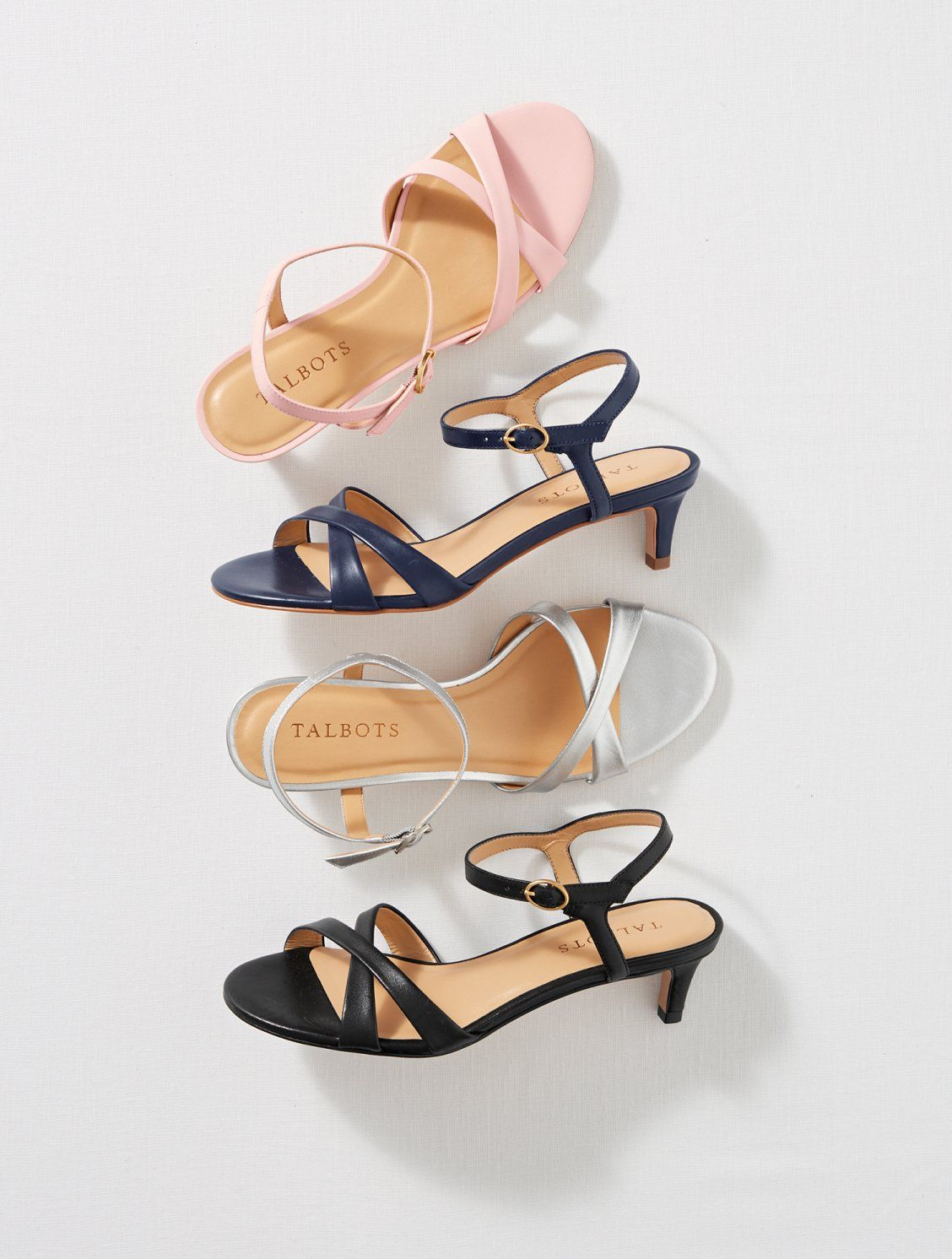 This Soft Strappy Sandal Is The Definition Of Simple Elegance A Modest Kitten Heel And Memory F Womens Shoes Wedges Bridal Shoes Low Heel Strap Sandals Women