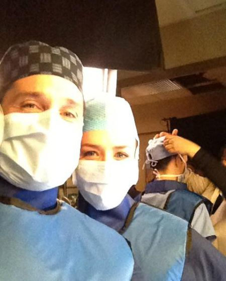 Patrick Dempsey Having Fun Working On The Private Practice Crossover