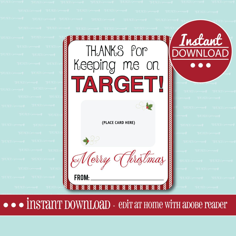 Target GIFT CARD HOLDER, Printable, Editable, Gift Card Holder ...