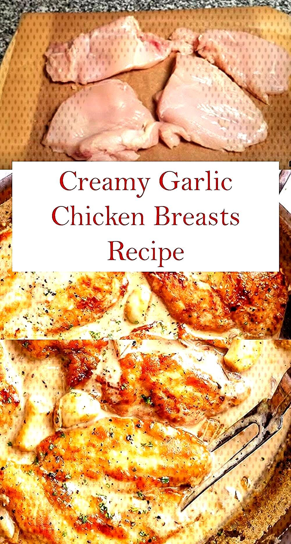 This is The Best, Healthy and Easy Creamy Garlic Chicken Breasts Recipe. This Creamy Garlic Chicken