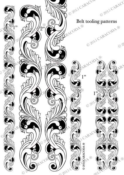 picture about Free Printable Leather Belt Tooling Patterns known as This is a free of charge leathercraft tooling habit which your self can